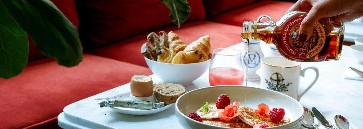 Le petit-déjeuner de qualité de l'hôtel Monte Cristo