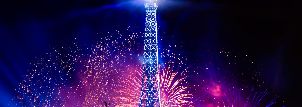 The stunning spectacle of the Bastille Day fireworks display